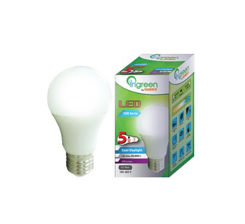 LED Glass Bulb E27 5W (Cool Daylight)